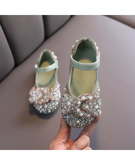 Girls Fashion Princess  Sequins Pearl Party Shoes