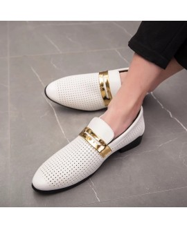 Men Breathable Casual Two-layer Leather Shoes