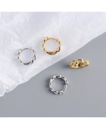 Small chain style Gold Hoop Earrings