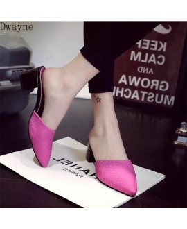 Women Pumps Sexy Classic Snakeskin Patent Leather Chunky Sharp Head Paltform Shoes